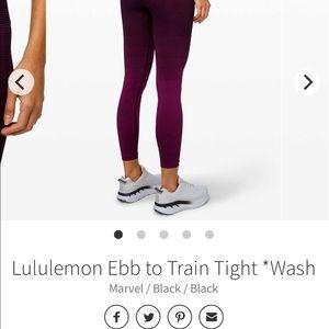 Ebb to Train Tight *Wash Marvel / Black / Black